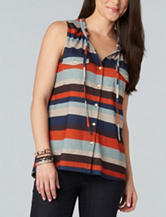 Democracy Multicolor Striped Print Top