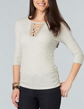 Democracy Ruched Knit Top
