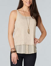 Democracy Double Layer Knit Top