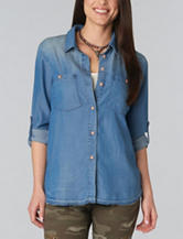 Democracy Chambray Woven Top