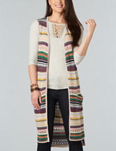 Democracy Striped Print Sweater Vest