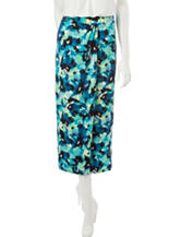 Kasper Blurred Floral Print Skirt