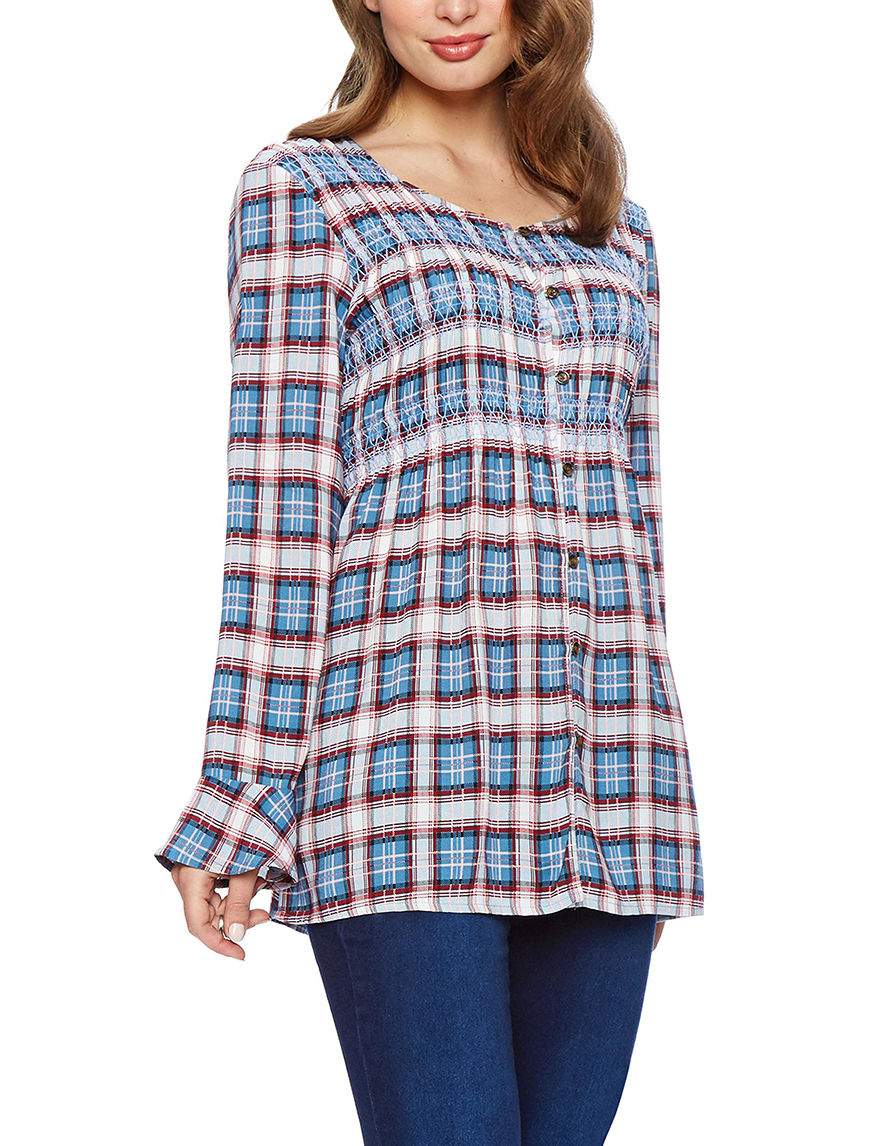 Skyes The Limit Blue Shirts & Blouses Strapless