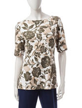 Rebecca Malone Floating Floral Print Top