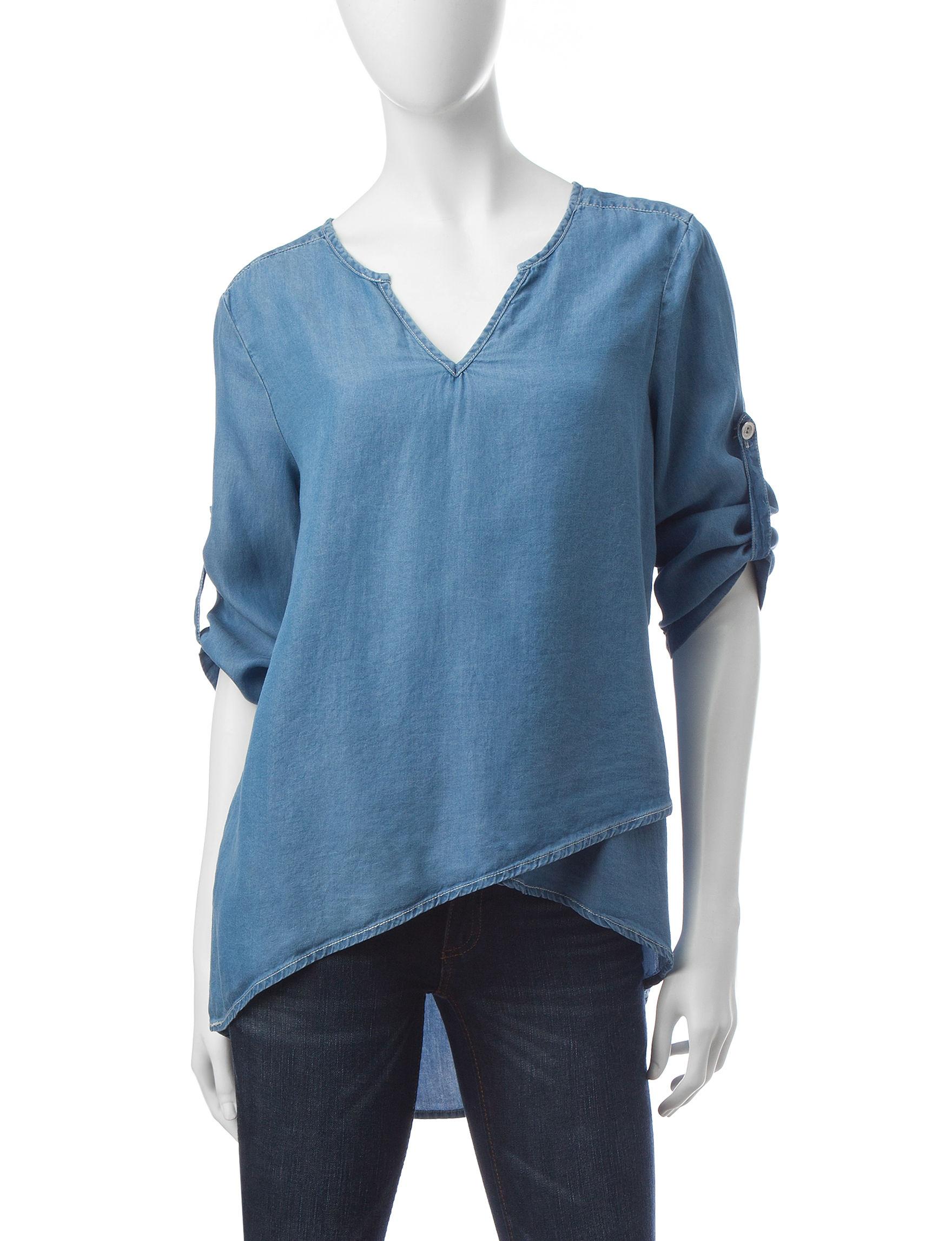 Hannah Medium Blue Shirts & Blouses