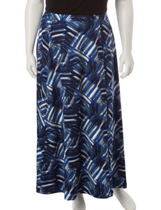 Kasper Plus-size Multicolor Abstract Print Skirt