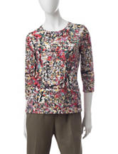 Rebecca Malone Multicolor Abstract Print Top