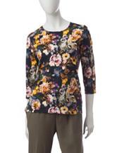 Rebecca Malone Multicolor Floral Print Top
