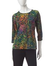 Rebecca Malone Multicolor Festive Print Top