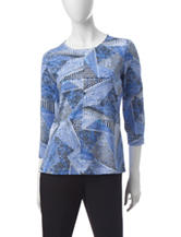 Rebecca Malone Multicolor Mixed-Print Top