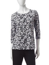 Rebecca Malone Broken Glass Print Top