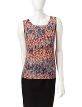 Kasper Multicolor Abstract Print Top