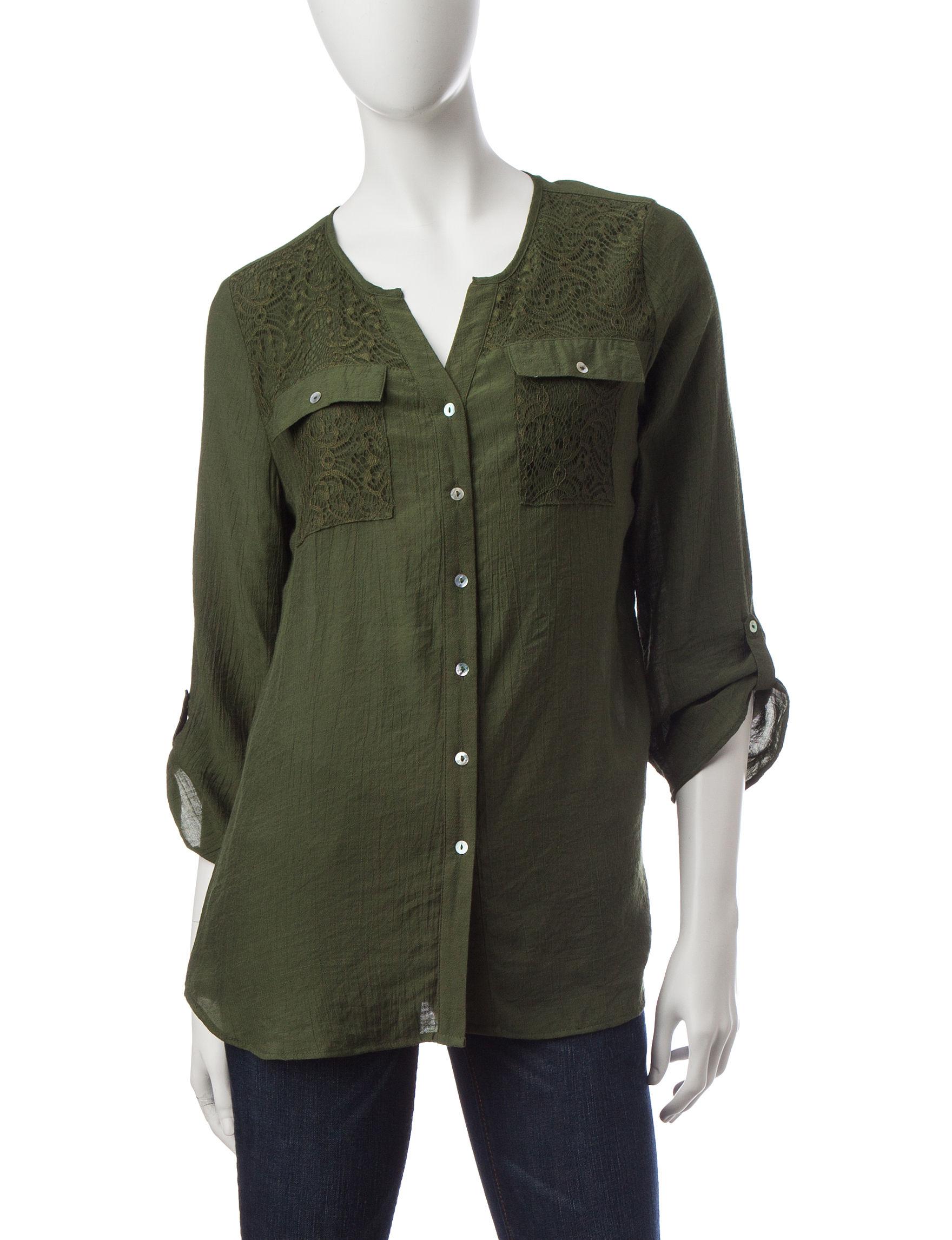 Notations Green Shirts & Blouses