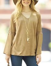 Hannah Faux Suede Tunic Top