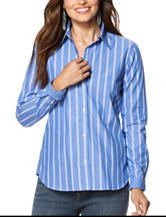 Chaps Striped Print Woven Top
