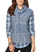 Chaps Patchwork Sweater Knit Vest