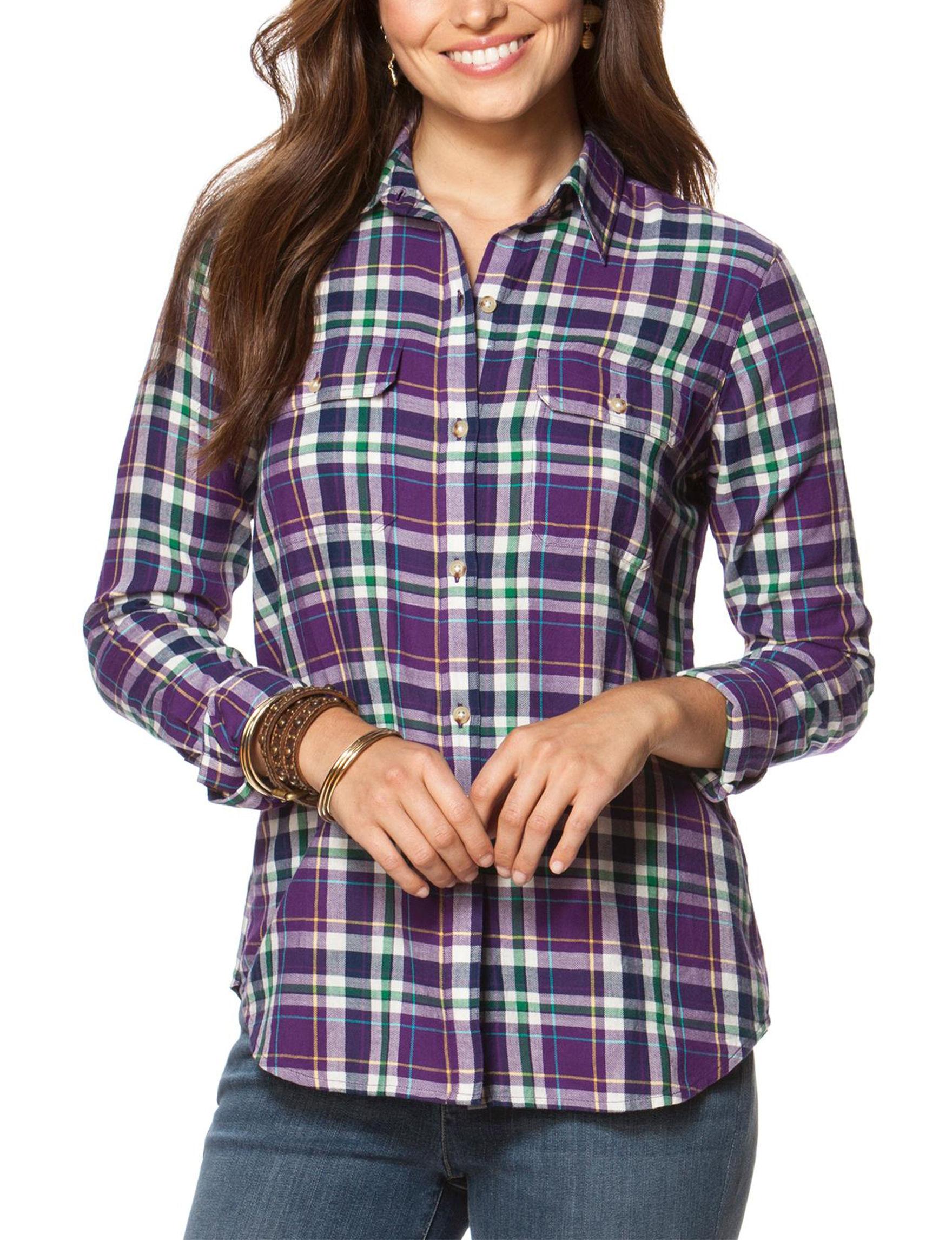 Chaps Purple Shirts & Blouses
