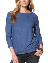Chaps Twist Back Jersey Knit Top