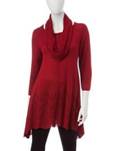 Hannah 2-pc. Solid Knit Sweater & Scarf Set