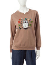 Rebecca Malone Owl Fleece Sweater