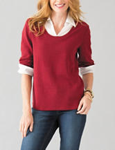 Rebecca Malone Layered-Look Knit Top