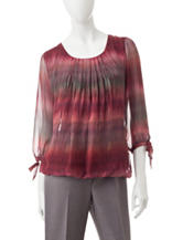 Rebecca Malone Abstract Print Woven Top