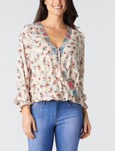 Democracy Floral Print Woven Top