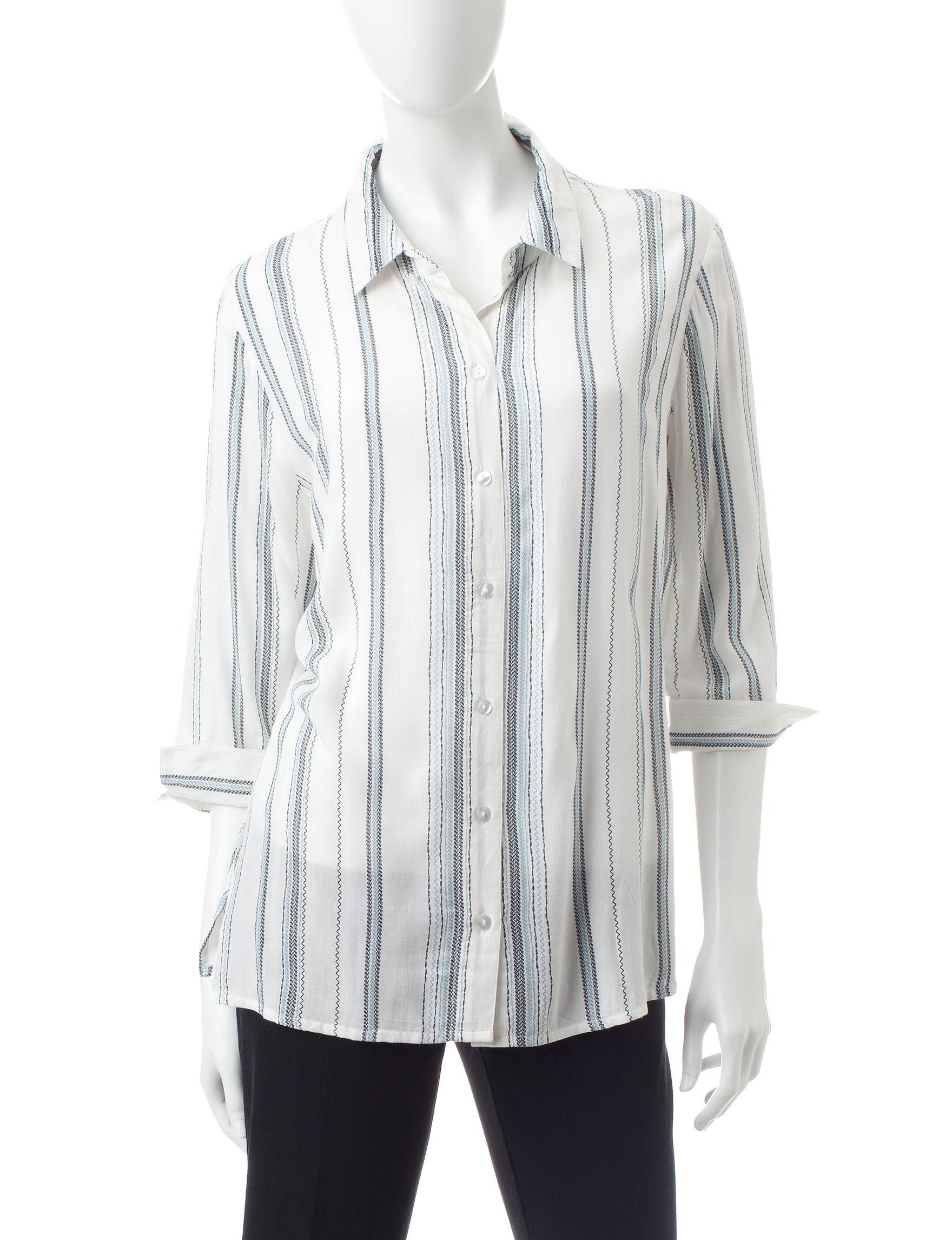 Rebecca Malone Ivory Shirts & Blouses