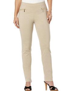 Rafaella Beige Powerstretch Classic Fit Pants