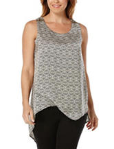 Rafaella Tile Print Double Layer Woven Top