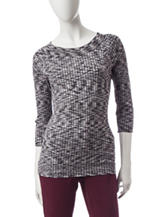 Hannah Spacedye Knit Sweater Top