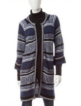 Hannah Diamond Striped Cardigan