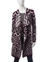 Hannah Aztec Print Knit Cardigan