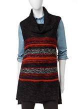 Hannah Marled Stripe Print Sweater