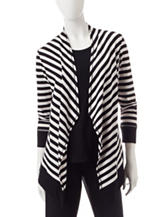 Ruby Road Stripe Print Cardigan