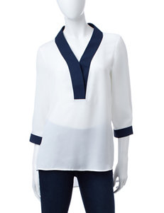Zac & Rachel Cream Shirts & Blouses