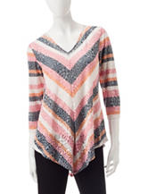 Ruby Road Chevron Print Top
