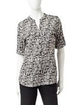 Calvin Klein Abstract Print Woven Top