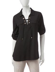 Calvin Klein Black Shirts & Blouses Strapless