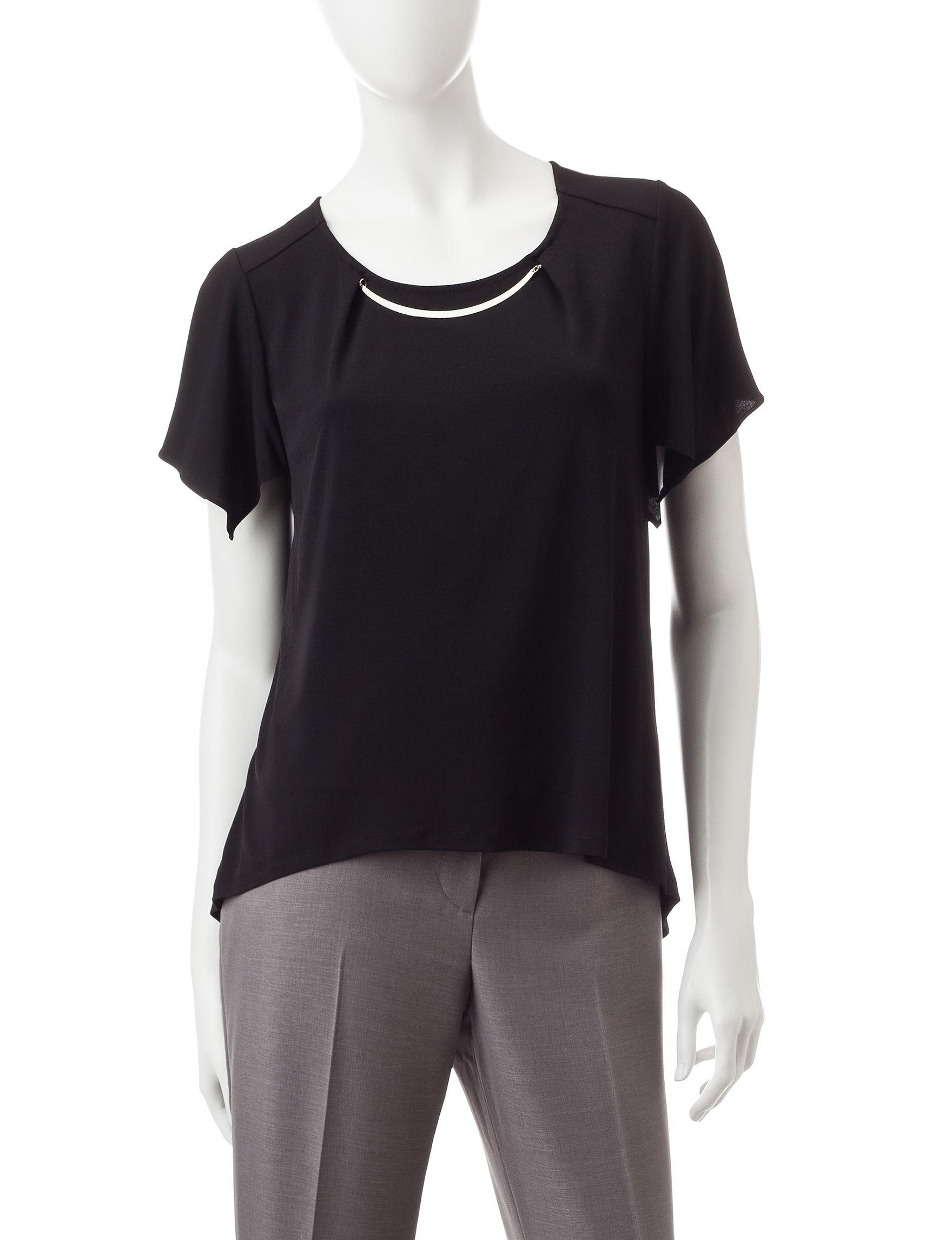 Notations Black Shirts & Blouses