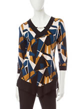Notations Geometric Print Top