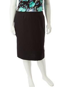 Kasper Plus-size Black Pencil Skirt