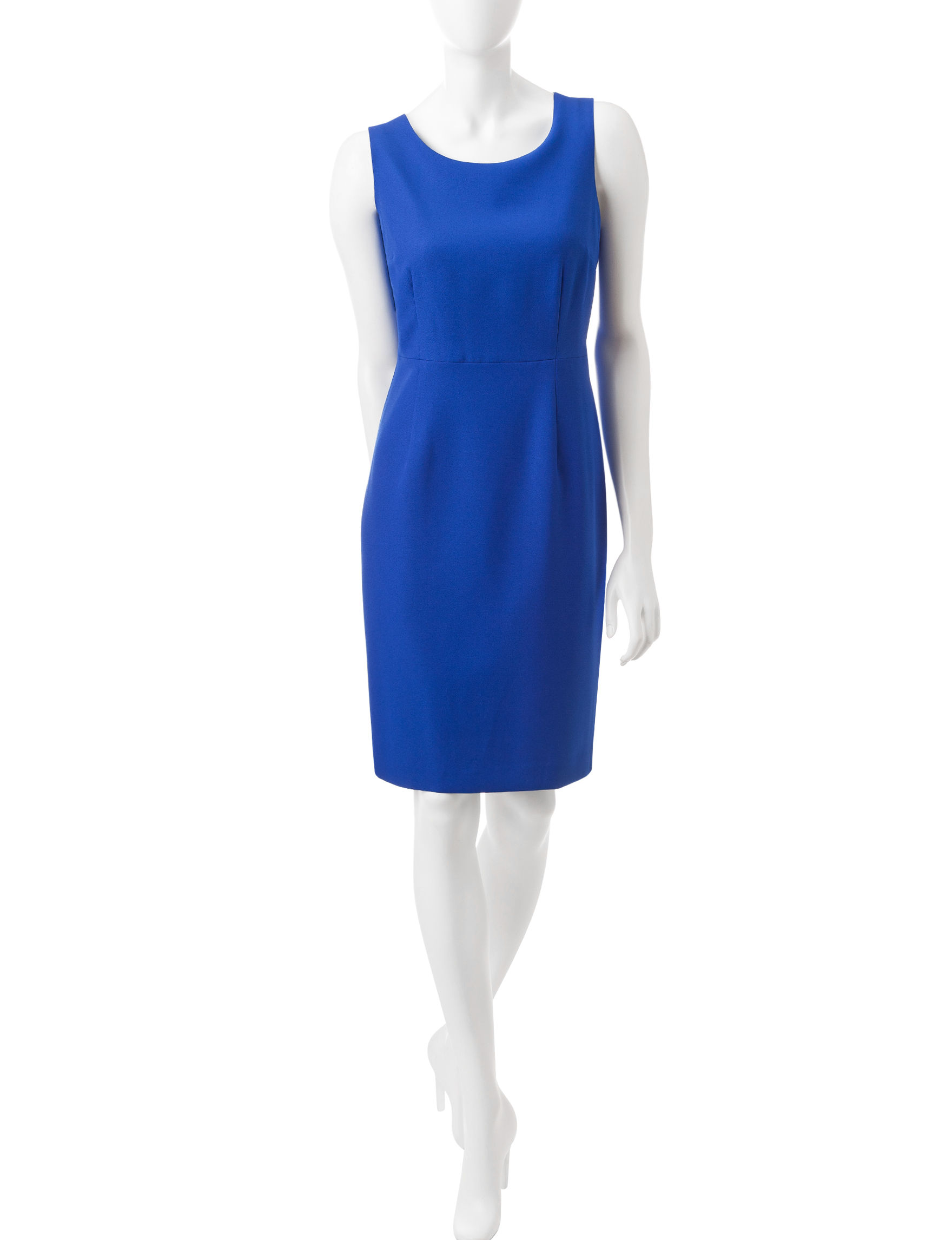 Kasper Blue Sheath Dresses