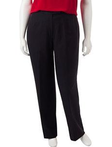 Kasper Plus-size Black Crepe Pants