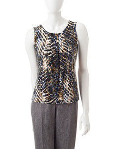 Kasper Animal Print Top