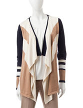 Valerie Stevens Abstract Print Cardigan