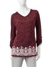 Silverwear Border Print Knit Top