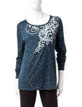 Silverwear Spacedye Print Knit Top