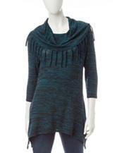 Hannah Scarf Print Hatchi Knit Sweater