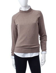 Jeanne Pierre Taupe Pull-overs Sweaters
